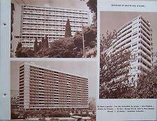 A17) planche ALGERIE ALGER buildings et gratte ciel d'Alger