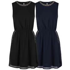 ONLY Kleid Trägerkleid mit Perlen A-Linie glamour festlich Freizeitkleid chic