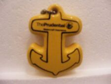 Yellow & Black Anchor shaped Prudential Watercraft Boat Insurance Key Chain Fob