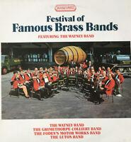 "FESTIVAL OF FAMOUS BRASS BANDS Watney Band Vinyl LP 12"" 1972 Boulevard 4088"