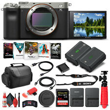 Sony Alpha a7C Mirrorless Camera Body Only, Silver ILCE7C/S - Basic Bundle