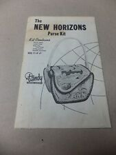 Vintage Leathercraft New Horizon Purse Pattern and Instructions.