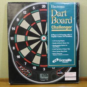 New Sportscraft  Electronic Dart Board Challenger Series  8 player 6 Darts