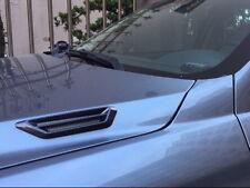 Car KW-203 Black Carbon Fiber Hood Air Intake Flow Vent Fender Side Cover Badge