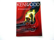 Kenwood Katalog Prospekt 1995 Hifi Stereo Technik Broschüre HI-FI 1996 Bausteine