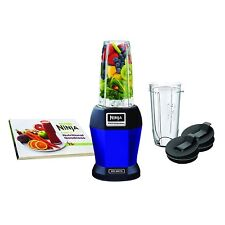 Nutri Ninja BL456 900W Professional Smoothie Blender with Nutri Ninja Cups, Blue