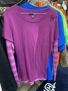 New FOX Women's Long Sleeve T-Shirt ~Purple~L~ # 01096-552-L