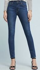 Levi's Ladies 721 High Rise Skinny Dark Blue Jeans W25 L28