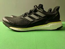 premium selection 69194 ddc83 Brand New Adidas Energy Boost Mens Running Shoes Black White Yellow Size  12.5