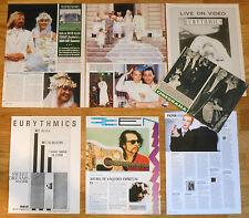 EURYTHMICS clippings 1980s/00s magazine photos Annie Lennox Dave Stewart