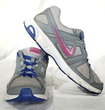 Nike Downshifter 5 Grey, White, and Pink Running Training Sneakers Women's Sz 8