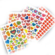 Heart Stickers Set - 235 Assorted Love Hearts for Wedding Cards Labels Letters