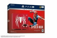 Sony PlayStation Ps4 Pro 1TB Limited Edition Spider-Man Red Console Bundle