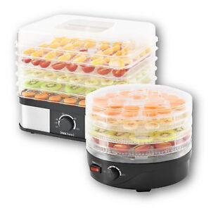 neu.haus® Dörrgerät Dörrautomat Obst und Gemüse Trockner Food Dryer 250W