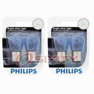 2 pc Philips Parking Light Bulbs for Plymouth Arrow Arrow Pickup Belvedere xy