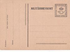 Postcard Military Service prepaid Sweden Unused