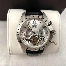 Andre Belfort Reloj Hombre Automático Plata Negro Cuero Correa Analógico 410246