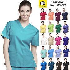 WonderWink Origins Womens Medical Scrubs Uniforms Multi Color V-Neck Size XXS-5X