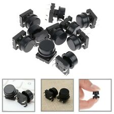 10pcs Plastic Momentary Tact Tactile Push Button Switch 12*12*H7.3 4 Pin w Cap