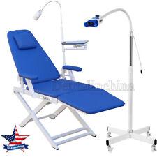 Dental Folding Examination Chair Led Lightteeth Whitening Lamp Tooth Bleaching