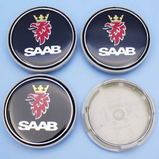4x63mm SAAB Black Wheel Center Caps Logo Emblem Badge Hub Caps Rim Caps