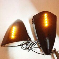 LED side rearview Mirrors for suzuki honda kawasaki yamaha bike black