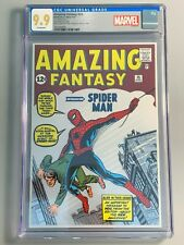 AMAZING FANTASY #15 - SILVER FOIL - CGC 9.9 MINT - FIRST RELEASE  (648/1000)