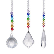 Set 3 Chakra Crystal Ball Hanging Suncatcher Christmas Gift Ornament with Box