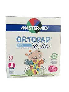 Ortopad Elite Eye Patch - 50 Stick On Patches (Latex Free) Size Junior 0-2yr