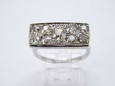 Ring mit 9 Brillanten Altschliff 0,85ct. 750-Weißgold