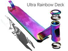 Scooter Deck Neochrome Rainbow Inc Flex Brake, Grip Tape, Headset Custom HQ!