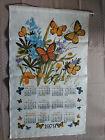 1979 100% Linen Calendar Towel 'Natures Beauties ' Butterflies 27' x 16'
