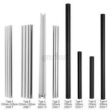 250mm-700mm T-Slot Aluminum Profiles Extrusion Frame DIY For 3D Printers CNC UK