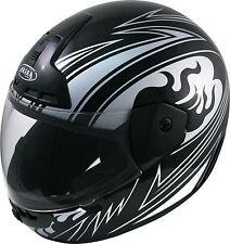 Motorradhelm schwarz /silber- Integralhelm - Rollerhelm Gr. S