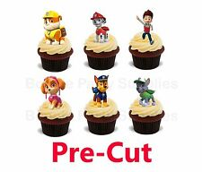 6 Paw Patrol Large Stand Up Edible Wafer Thick Card cupcake toppers PRE CUT