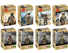 SET 14PC Police Military SWAT Army With Weapons Lego Toys Custom