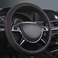 Universal Steering Wheel Hub Cover Leather Black 38cm For Toyota Honda Nissan VW