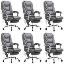 6x Bürostuhl Drehstuhl Konferenzstuhl Pacific mit Massagefunktion V2 grau