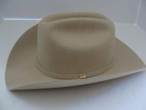 "Los Altos Silver Belly 10X Beaver Felt Cowboy Hat 7 3/8  Brim 4"""