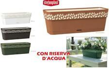 VASI CASSETTE BALCONETTA CLOE CON RISERVA D'ACQUA IN POLIPROPILENE CM. 50x18x17