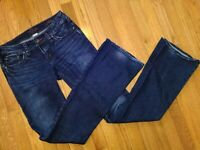 SILVER JEANS AIKO BOOTCUT Dark wash Jeans SIZE 26, 37 inseam (36 measured)