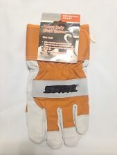 Branded Work Glove Closeout, Heavy Duty, A Grade Goat Leather, Size Large