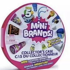 5 Surprise Mini Brands Zuru Ball Collector's Display Case + 2 Mystery Minis NEW