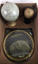 "Vtg Replogle 6"" Moon Globe W/ Apollo Landing Sites Lot 2116"