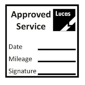 APPROVED GARAGE SERVICE STAMP (LUCAS) - 28mm x 28mm