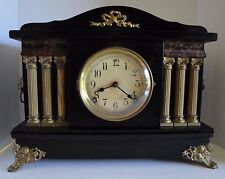 Antique 1800's SESSIONS MANTLE CLOCK Just Serviced Runs Great and Chimes