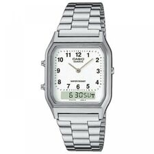 Casio Mens Classic Combi Wrist Watch With Numeric Digits - Silver Aq230a7bmq