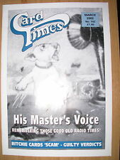 CARD TIMES MAGAZINE FORMERLY CIGARETTE CARD MONTHLY No 142 MARCH 2002