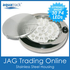 30-P4 LED STAINLESS STEEL SS CABIN DOME LIGHT - Marine/Boat/Caravan/RV Lamp 12V