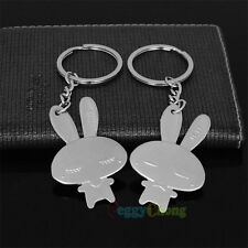 1 pair Couple Cute Beautiful Rabbits Key ring Keyring Keychains for Love Gift